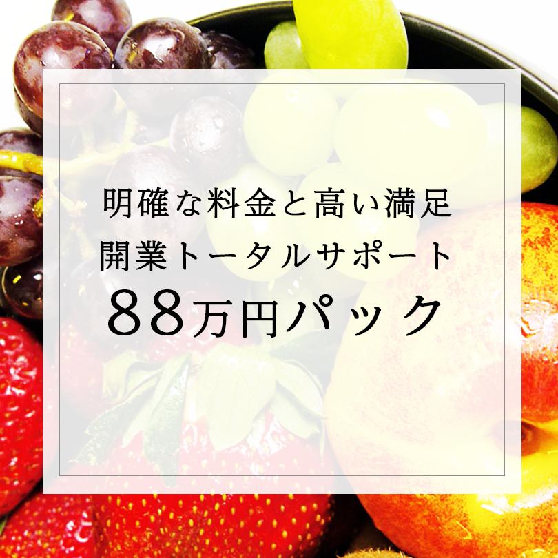 明確な料金と高い満足開業トータルサポート88万円パック